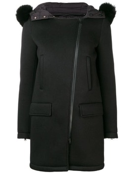 Hooded Mid Length Coat by Herno