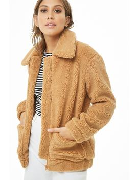 Faux Shearling Jacket by Forever 21