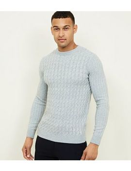 Grey Cable Knit Long Sleeve Jumper by New Look