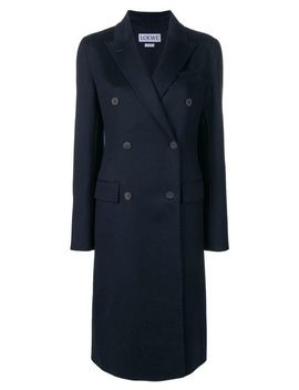 Women's Blue Double Breasted Coat by Loewe