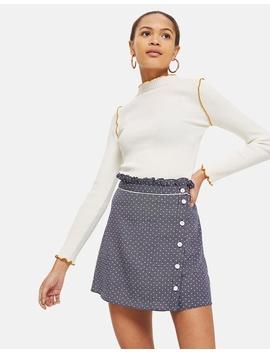 Spot Ruffle Mini Skirt by Topshop