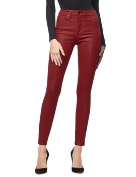 Good Waist Coated High Waist Skinny Jeans by Good American