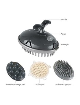 Marnur Scalp Massager Head Shampoo Brush Hair Rejuvenating Electric Massaging Back Neck Shoulder Waist 3 In 1 Multipurpose Attachments For Home... by Marnur