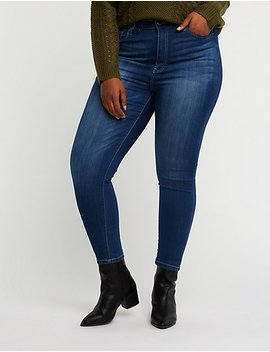 Plus Size Cello Faded Skinny Jeans by Charlotte Russe