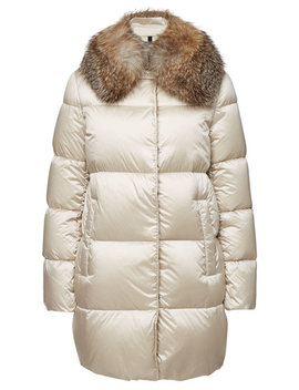 Loriot Quilted Down Coat With Fox Fur by Moncler