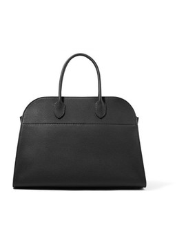 Margaux 15 Buckled Textured Leather Tote by The Row
