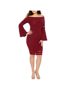 Bold Elements Long Sleeve Fit & Flare Dress by Bold Elements