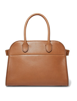 Margaux 10 Buckled Leather Tote by The Row