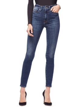 Good Waist Ripped High Waist Skinny Jeans by Good American