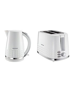 Morphy Richards Dimensions 2 Slice Toaster And Jug Kettle   White by Morphy Richards