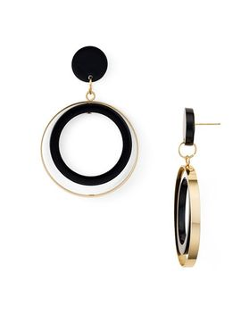 Two Tone Loop Drop Earrings   100 Percents Exclusive by Aqua