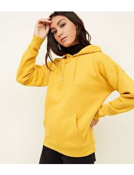 Mustard Oversized Hoodie by New Look