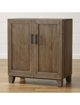 Marin Shiitake Bar Cabinet by Crate&Barrel