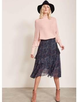 Daria Print Ruffled Skirt by Mint Velvet