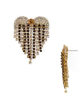 Heart Fringe Drop Earring   100 Percents Exclusive by Aqua