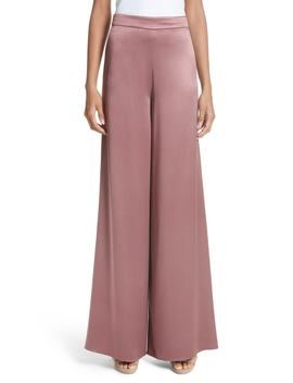Nelle Side Slit Silk Pants by Cushnie Et Ochs