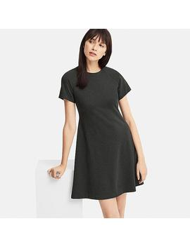 Women Ponte Knit Short Sleeved Mini Dress by Uniqlo
