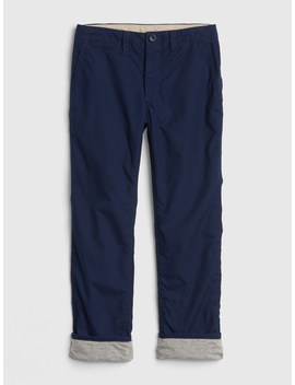 Lined Khakis by Gap
