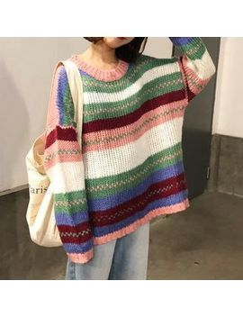 Dasim   Color Block Stripe Knit Sweater by Dasim