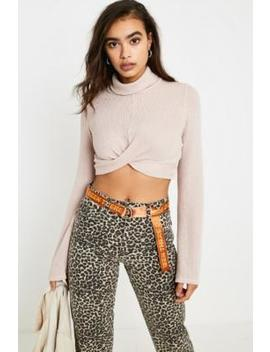 Uo Descie Cream Drapey Turtleneck Jumper by Urban Outfitters