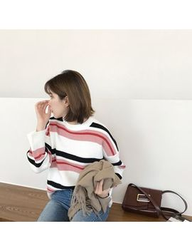 Mimi&Didi   Crew Neck Color Block Sweater by Mimi&Didi