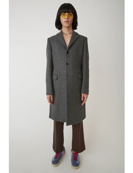 Tailored Coat Grey Melange by Acne Studios