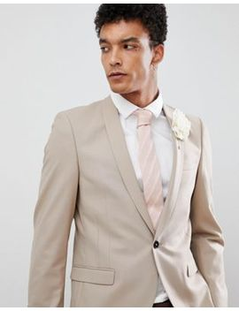 Twisted Tailor Wedding Super Skinny Suit Jacket In Beige by Twisted Tailor