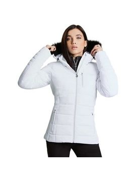 Dare 2 B   White 'curator' Waterproof Ski Jacket by Dare 2 B