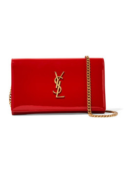 Monogramme Kate Small Patent Leather Shoulder Bag by Saint Laurent