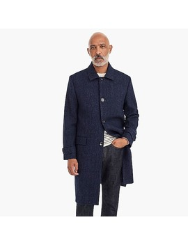 Oversized Topcoat In Heathered Herringbone Wool by J.Crew