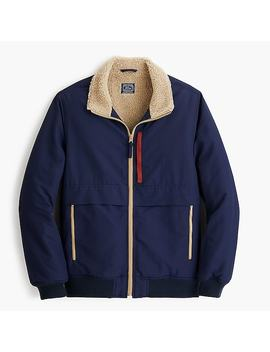 Windbreaker With Sherpa Lining by J.Crew