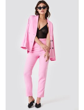 Fitted Suit Pants Light Pink by Na Kd