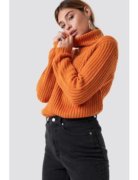 Tinelle Rollneck Knit Orange by Na Kd
