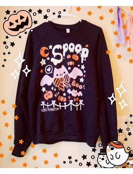 Spooky Cute Halloween T Shirt   Kawaii Spoopy Bat Shirt by Etsy