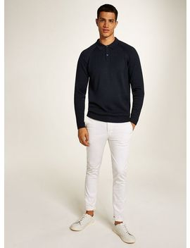 Selected Homme Navy Ribbed Polo by Topman