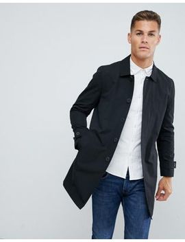 Burton Menswear Mac In Black by Burton Menswear London