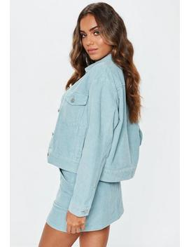 Light Blue Cord Trucker Jacket by Missguided