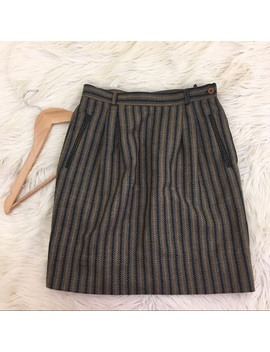 Vtg G.Gucci 100 Percents Wool Grey Mini Pencil Skirt by Gucci