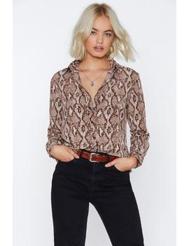 That Snakes Sense Relaxed Shirt by Nasty Gal