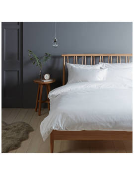 John Lewis & Partners Warm & Cosy Brushed Cotton Bedding, White by John Lewis & Partners