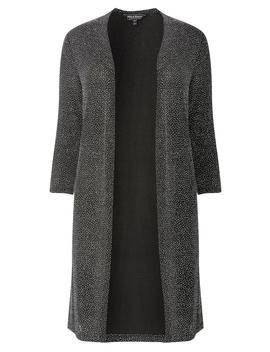 **Billie & Blossom Silver Long Line Jacket by Dorothy Perkins