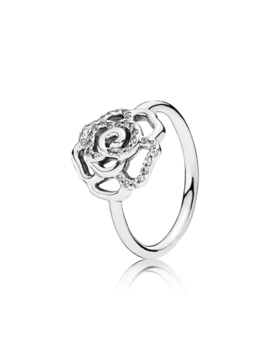 Shimmering Delicate Rose, Clear Cz Sterling Silver, Cubic Zirconia by Pandora