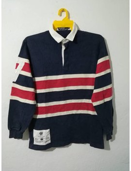 Rare Polo Ralph Lauren 92 Rugby Shirt Stripes M Size by Etsy