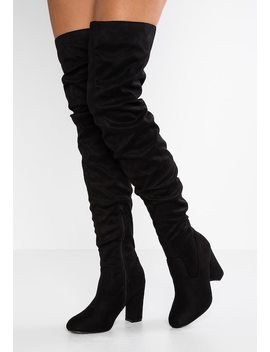 Wide Fit Slouchy   Boots Med Høye Hæler by Lost Ink Wide Fit