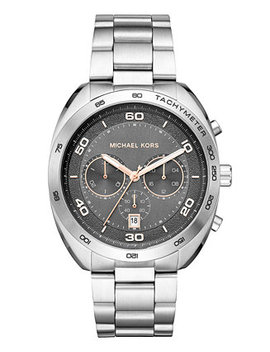 Men's Chronograph Dane Stainless Steel Bracelet Watch 43mm, Created For Macy's by Michael Kors
