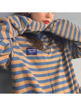 Moon City   Long Sleeve Striped T Shirt by Moon City