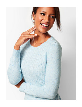 Cable Crewneck Sweater   Donegal by Talbots