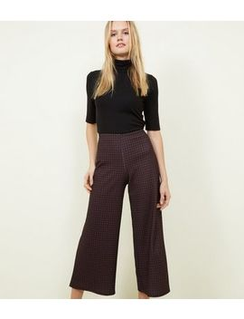 Brown Gingham Check Cropped Trousers by New Look