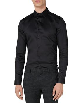 Muscle Fit Satin Shirt by Topman