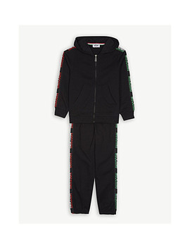 Logo Tape Cotton Tracksuit 4 14 Years by Moschino